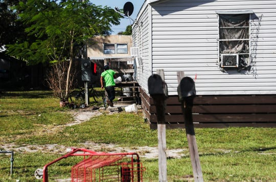 A trailer home on the 200 block of 2nd street in Immokalee, Fl. on Sunday, Nov. 10, 2019. A toddler was allegedly raped in the home on Oct. 5. 2019.