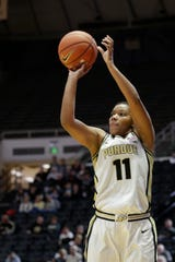 Purdue guard Dominique Oden (11) goes up for three during the fourth quarter of a NCAA women's basketball game, Sunday, Nov. 10, 2019 at Mackey Arena in West Lafayette.