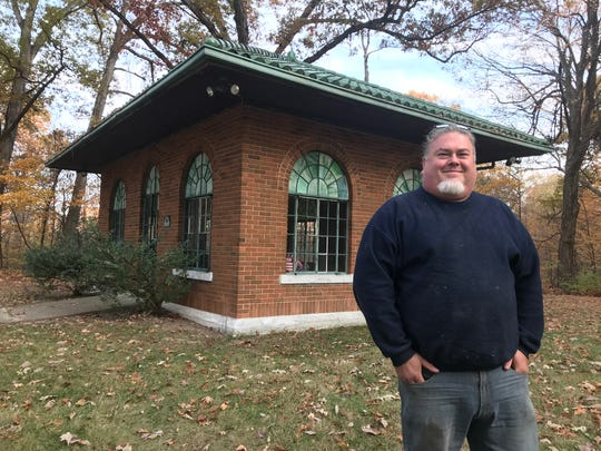 Ron Halsema, a member of the Exchange Club, is helping to raise money to save the Soldiers Home Cemetery Chapel, built in 1932 at the Indiana Veterans' Home near West Lafayette. The service group hopes to raise $40,000 to fix leaks and restore the building.