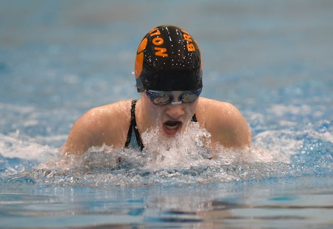 Drue Thielking of Brighton won two events in the KLAA swimming and diving meet.