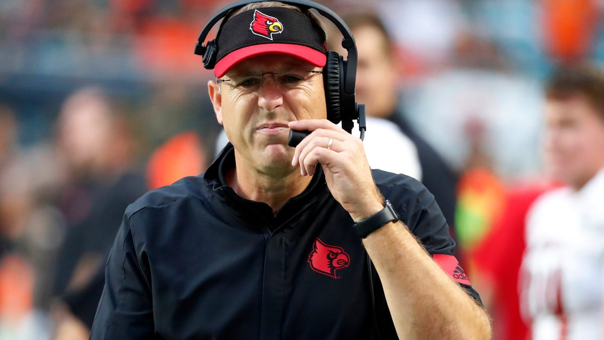 Louisville`s Scott Satterfield took an avoidable risk by...