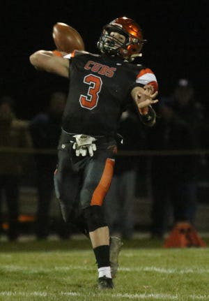 Lucas' Logan Niswander could have a field day against STA's pass game.