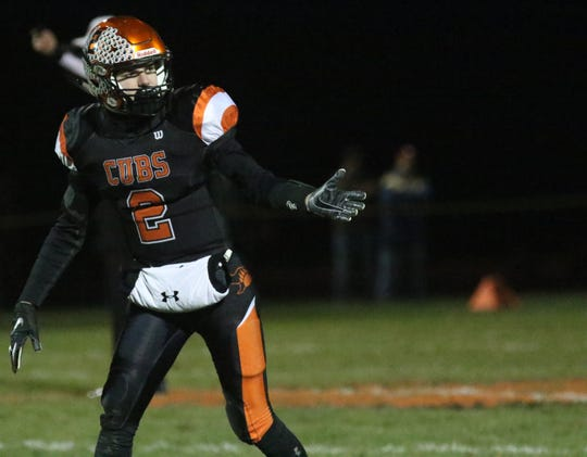 Lucas' Carson Hauger might be the biggest playmaker on the field Saturday night.