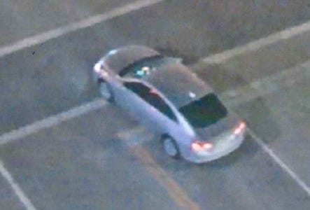 Police released this image of a silver Chevrolet Malibu with Texas license plates. They said the car was involved in a hit-and-run at North 6th Street and West Juneau Avenue.
