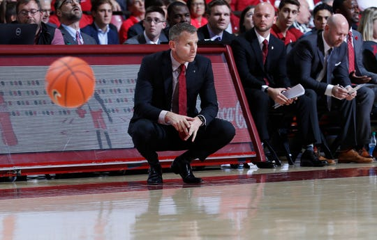 Alabama head coach Nate Oats looks on during a regular-season game against the University of Penn on Nov. 5, 2019 inside Coleman Coliseum in Tuscaloosa.  (Photo by David Gray/Alabama athletics)