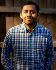 Cesar Virto poses for a portrait at his home on Nov. 6 in Nashville.