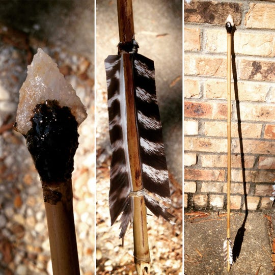 Arrows and spears are among the hunting tools anthropologist Justin Cook teaches at his Primitive Living Skills camps.
