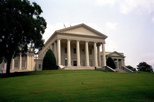 The Virginia State Capitol in Richmond in a 2003 file image. Democrats won decisive majorities in the House of Delegates and state Senate in voting on Tuesday, Nov. 5, 2019, setting the state on a new course. (Renee Enna/Chicago Tribune/TNS)