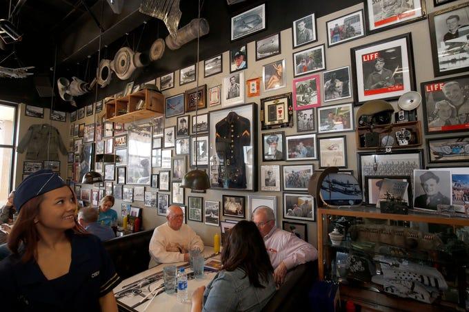 The B-29 Cafe in Ozark hosted 9 WW2 Veterans on November 4, 2019.