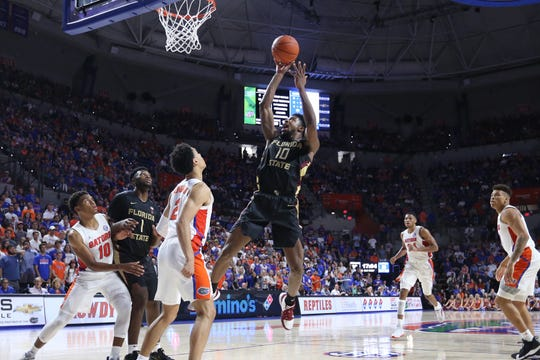 FSU redshirt sophomore Malik Osborne had 10 points in the Seminoles' sixth straight win over UF Sunday.