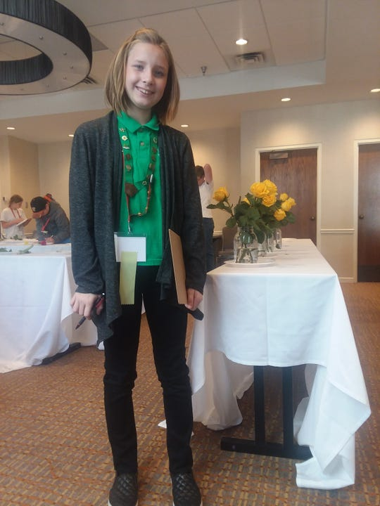 Alexis Green competes in Wakulla 4-H program.
