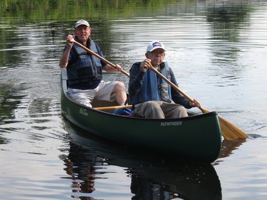 Gardner Watts canoeing with his friend Bill Weaver on August 16th, 2019.