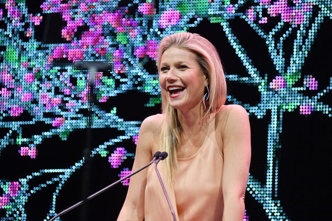 Gwyneth Paltrow puts on a smile at the Baby2Baby Gala presented by Paul Mitchell on Nov. 9, 2019, in Los Angeles.