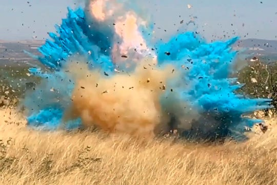 The gender reveal explosion in the Santa Rita Mountain's foothills ignited the 47,000-acre Sawmill Fire on April 23, 2017.