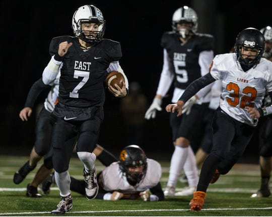 Toms River East quarterback Mike Goodall (No. 7) is one of the candidates readers can vote for in the Asbury Park Press Shore Conference Player of the Week Poll.