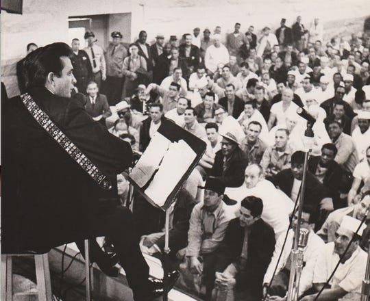 Johnny Cash at Folsom Prison.