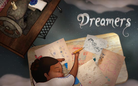 "The interior title page of ""Dreamers,"" by Yuyi Morales."