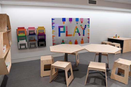 The Wells Fargo Art PLAYce is a special room for children, and those young at heart, to create and play at the Asheville Art Museum.