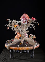 Meghan Morris of Apex, North Carolina, created this tree and all of its critters out of edible material.