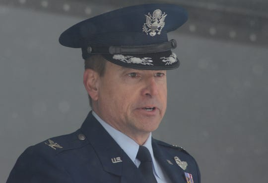 Air Force Col. Shawn Holtz, commander of the 110th Wing at the Battle Creek Air National Guard Base was keynote speaker.