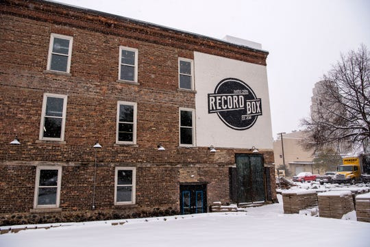 Space where a patio at Handmap Brewing Co. will be is pictured on Monday, Nov. 11, 2019 at the Record Box building in Battle Creek, Mich. Handmap Brewing is projected to open February 2020.