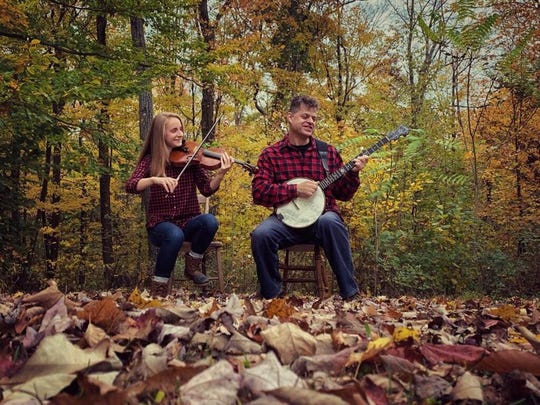 Duo Meridian is an acoustic pair featuring Robert Siegers on banjo and Cricket Tombs on violin.