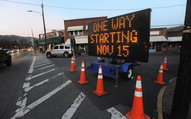 Drivers in downtown Black Mountain will no longer be permitted to travel southbound on Cherry Street, beginning Friday, Nov. 15.