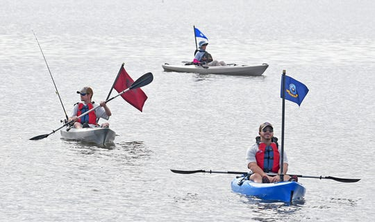 The veterans kayak Heroes on the Water.Veterans Day 2019 in Merritt Island. The  Brevard Veterans Council and Veterans Memorial Center  presented a Tribute to Veterans, honoring all who have served in the United States military.