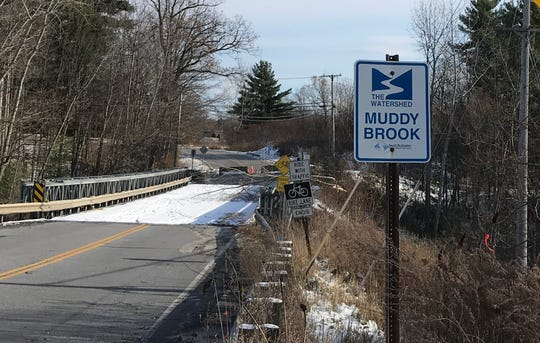 Closed to all traffic: The bridge across Muddy Brook is seen from Kimball Avenue in South Burlington on Nov. 9, 2019.
