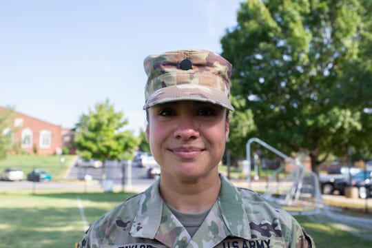 Taylor served from 2003-04 in Operation Iraqi Freedom as a cook in the 104th Military Intelligence Battalion, and her fellow cadets at Austin Peay State University's ROTC program treasure the stories she shares from the invasion.