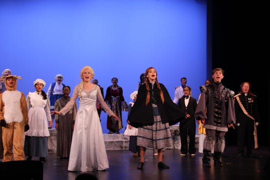 "The cast performs the finale of ""Frozen Jr."""