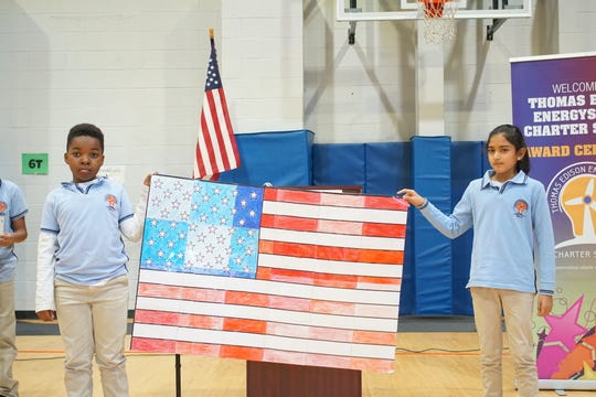 Thomas Edison EnergySmart Charter School in the Somerset section of Franklin honored Veterans Day with two assemblies.