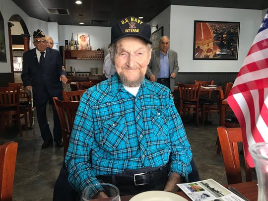 On Veterans Day, Somerset County Surrogate Frank G. Bruno took three veterans including George McNichol, 101, of Bridgewater to lunch at Toscanas Pizzeria and Restaurant in Bridgewater. The main focus, Bruno said, was to honor them and listen to their stories.