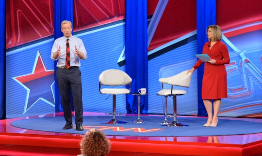 Tom Steyer speaks during a Live Democratic Presidential Town Hall Sunday night moderated by Brianna Keilar.