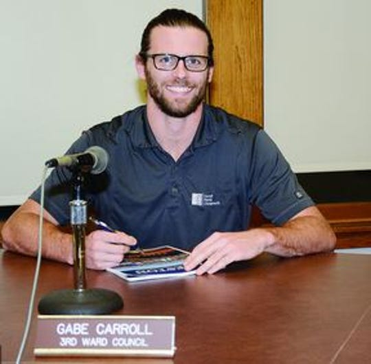 Creston City Councilman Gabe Carroll