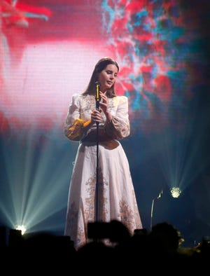 Musician Lana Del Rey performed at Veterans Auditorium in Des Moines on Sunday, Nov. 10, 2019.