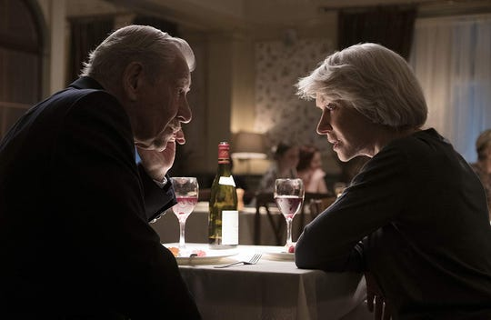 "Ian McKellen and Helen Mirren in ""The Good Liar."""