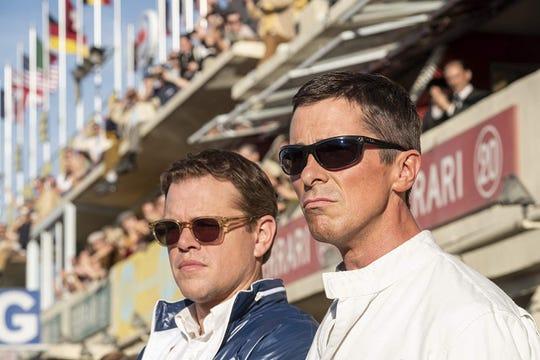 """Matt Damon and Christian Bale in """"Ford v Ferrari."""""""