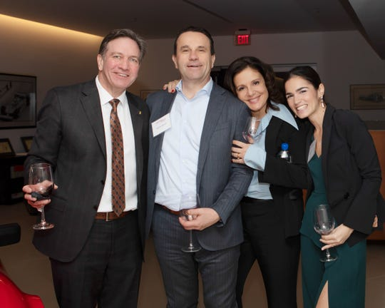 From left, Jeff Cauley, owner of Cauley Ferrari, Franco Bianchi and Alessandra BIanchi and Maddalena Pistillo.