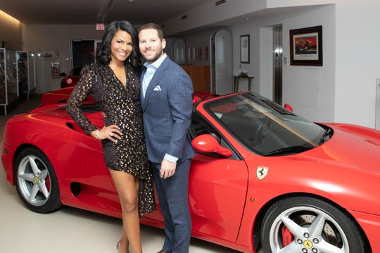 WDIV-TV's Rhonda Walker was emcee, shown here with her husband, Jason Drumheller.