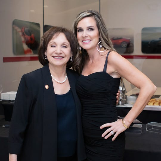 From left, Master Sommelier Madeline Triffon with event founder Flora Migyanka.