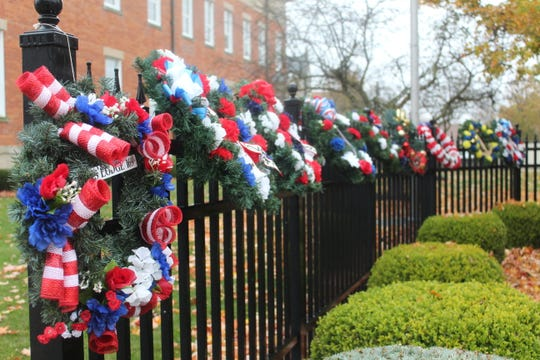 Local organizations and veterans hung wreaths to honor veterans past and present during a Veterans Day ceremony at the Sandusky County Courthouse.