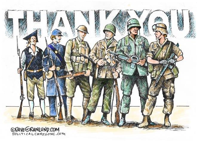 Thanks to veterans.