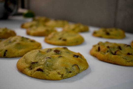 Rows of cookies fresh from the ovens at Parkway Pizza in south Fort Myers.