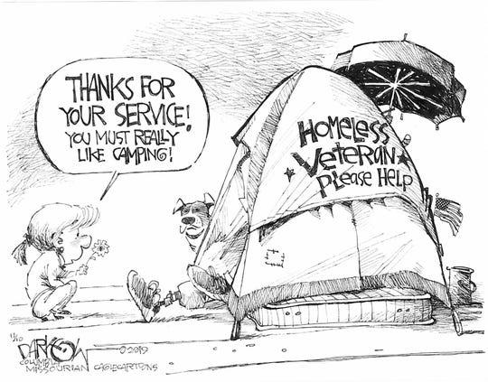 Homeless veteran.