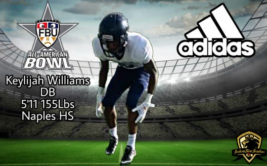Naples High freshman Keylijah Williams has been selected for the FBU All-American Bowl