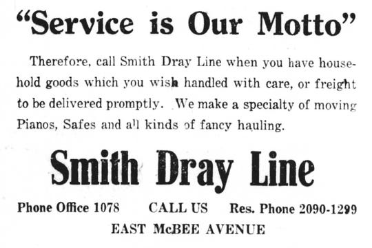The Turrentines at Smith Dray Line have handled freight as well as household goods since 1911.
