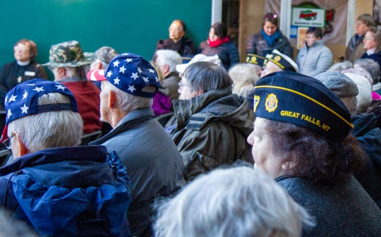Attendees of the 14th Annual Veterans Day Ceremony showed their support and service in a variety of ways.