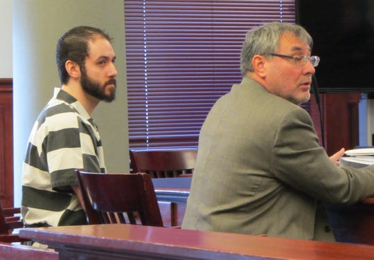 Brandon Lee Craft, left, sits with his attorney, Larry LaFountain, at a pre-trial hearing Monday, Nov. 4, 2019.
