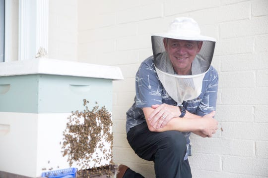 Master Beekeeper Paul Packbier of Island Honey Bee relies on mobile technology to track activities in and outside beehives.